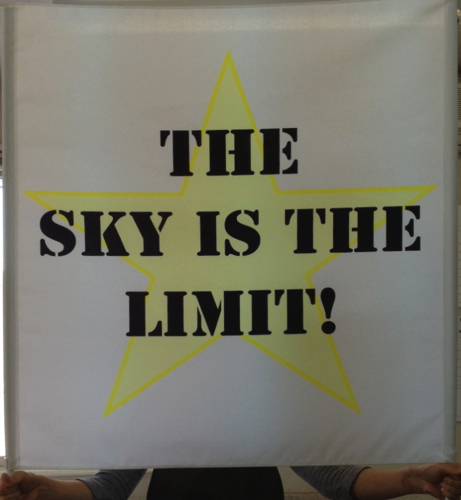 The sky is the limit」〜ゲートフラッグを作りました〜